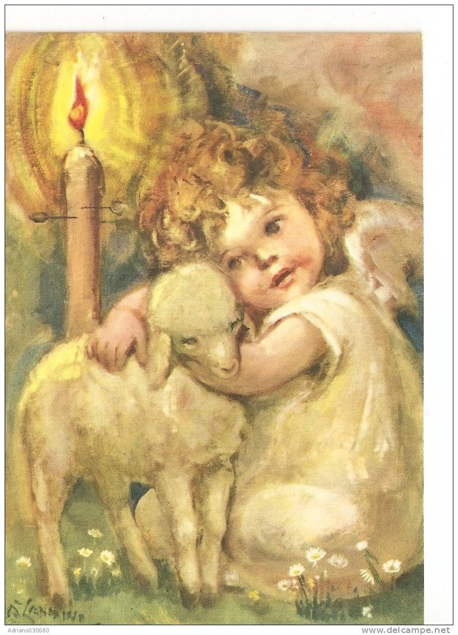 angel with a lamb