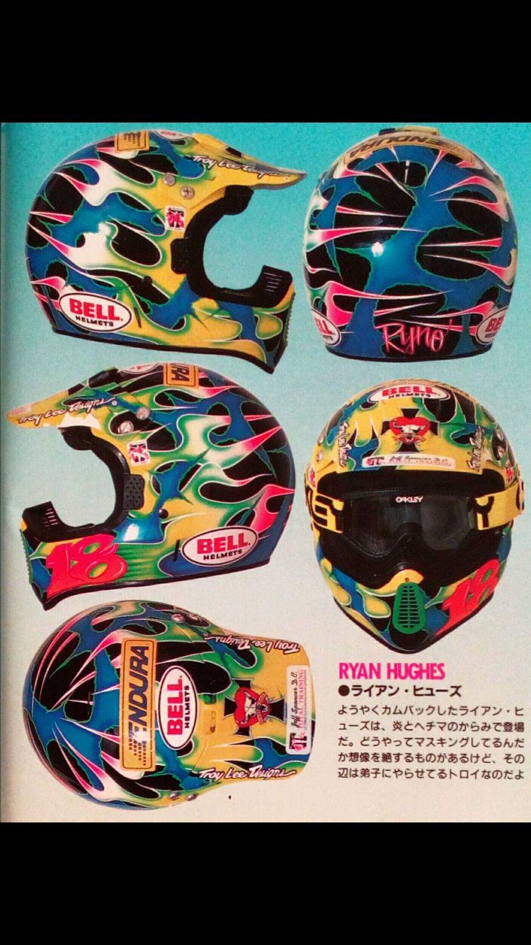 Vintage Motocross casco Bell Moto 6 Jeremy McGrath Modelo
