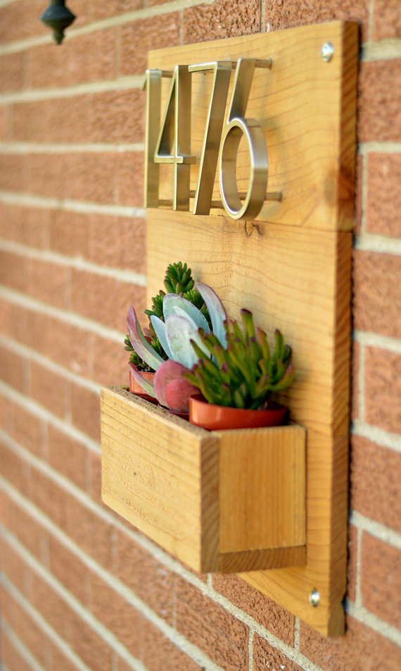 Address Planter Box | Planters, Box and Etsy