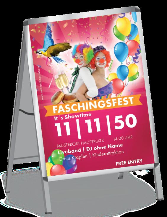 Plakate Mit Eye Catcher Effekt Eventplakat Blickfang Luftballons