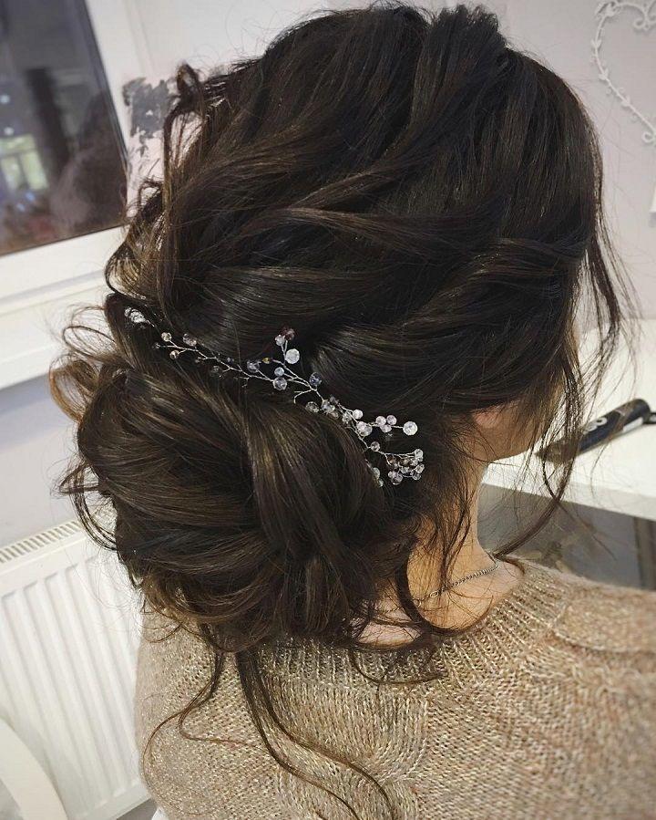 Gorgeous Messy Bridal Hair Updos Messy Bridal Hair Hair Styles Messy Hairstyles