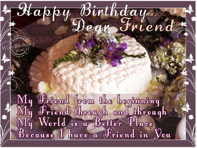 Sensational Happy Birthday Dear Friend Birthday Happy Birthday Birthday Birthday Cards Printable Benkemecafe Filternl