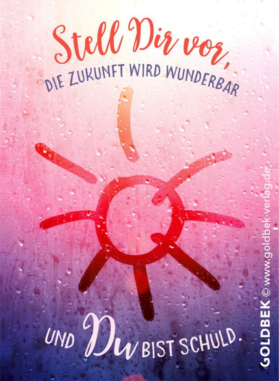 Postkarten - Sommerregen. Stell dir vor, die Zukunft wird