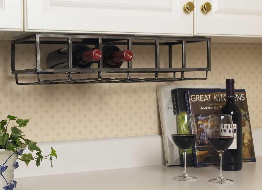 Under Counter Wine Rack Glass Holder Diy Kitchen Cabinet Wine