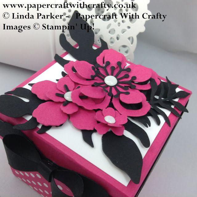 Papercraft With Crafty: Exploding Nail Varnish Gift Box plus Details of My Give Away !