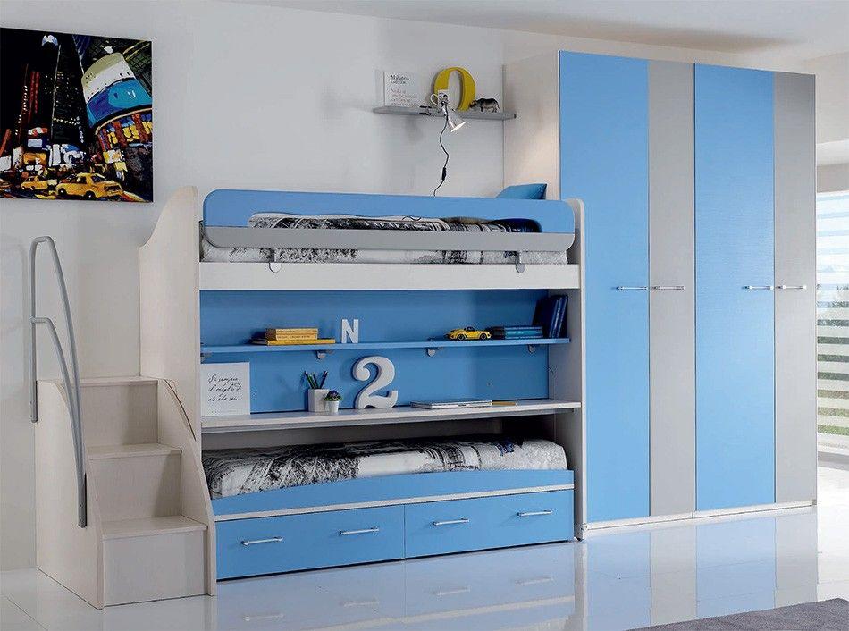 Modern Kids Bunk Bedroom Set WEB 55 by Spar Brooklyn, NY Modern