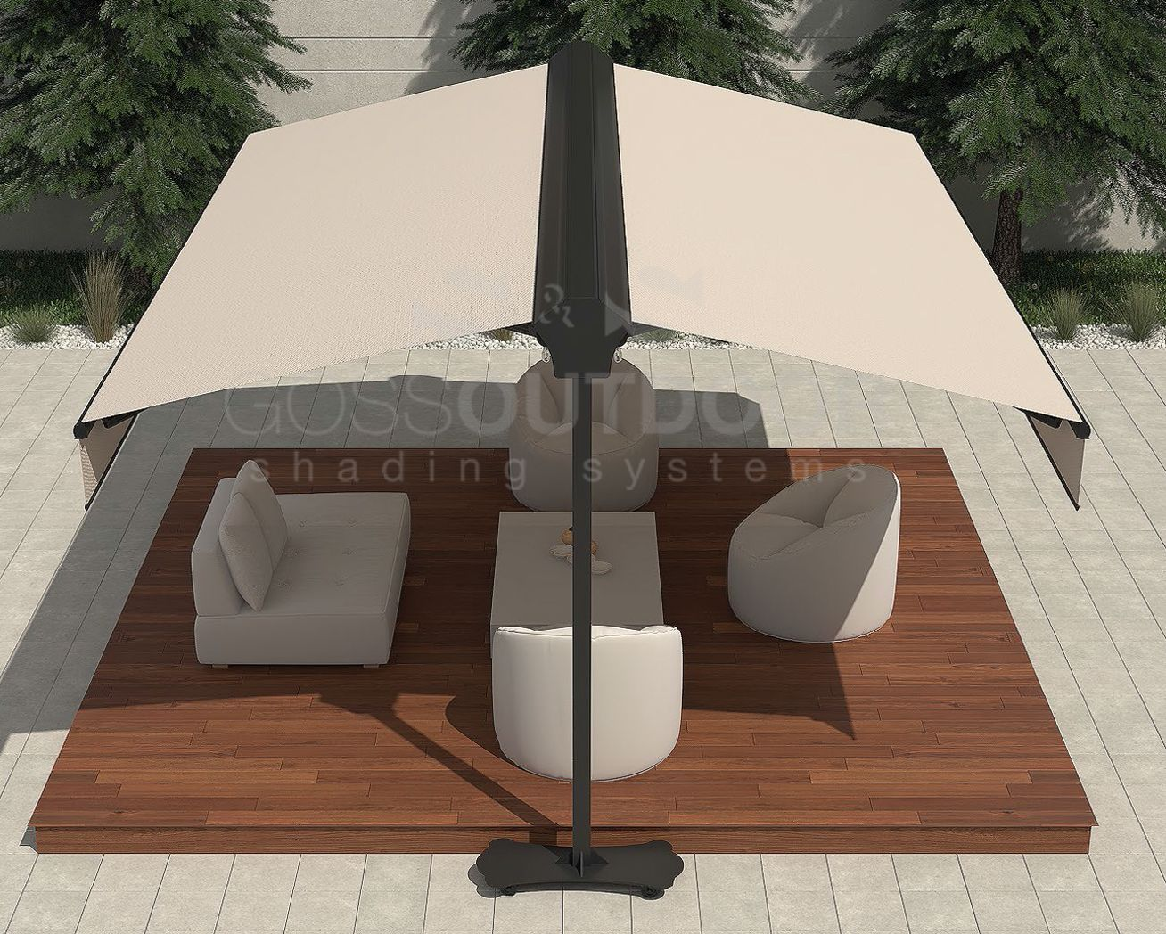Twins Classic Awnings Patio Shade Retractable Pergola Shading System