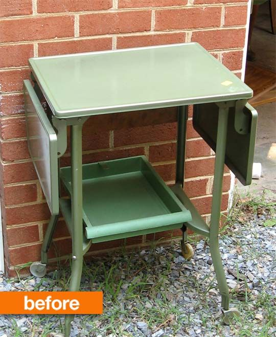Before & After: Typewriter Table Gets A Cartographic