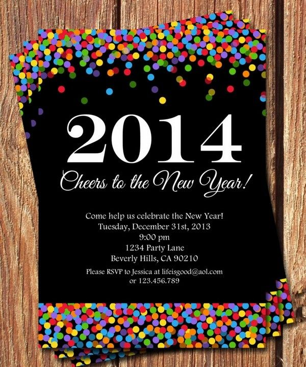 2014 Printable New Year Party Invitation New Year Eve Party Ideas – New Years Eve Party Invite