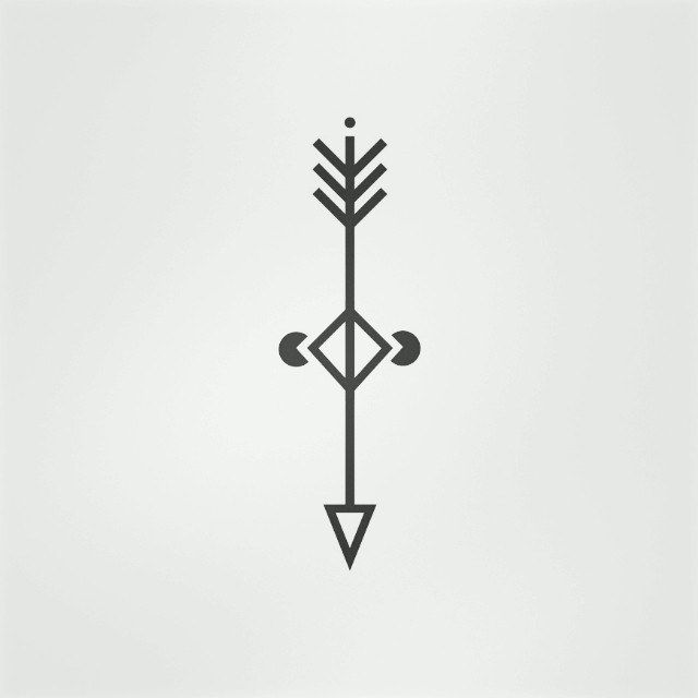 Working on a minimalist tattoo design tattoo arrow for Minimalist design meaning
