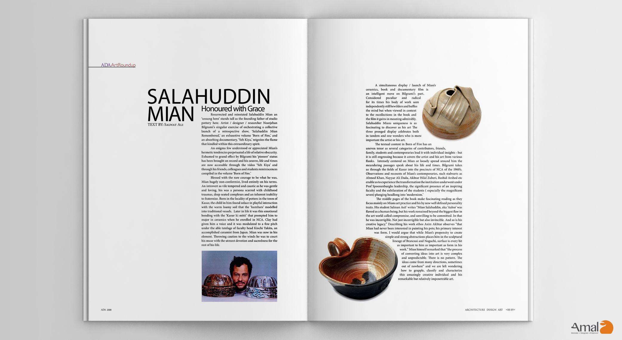 Salahuddin Mian. ADA (Architecture Design Art)