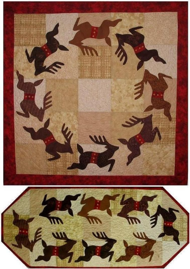 Rompin' Reindeer Quilt Pattern   Craftsy
