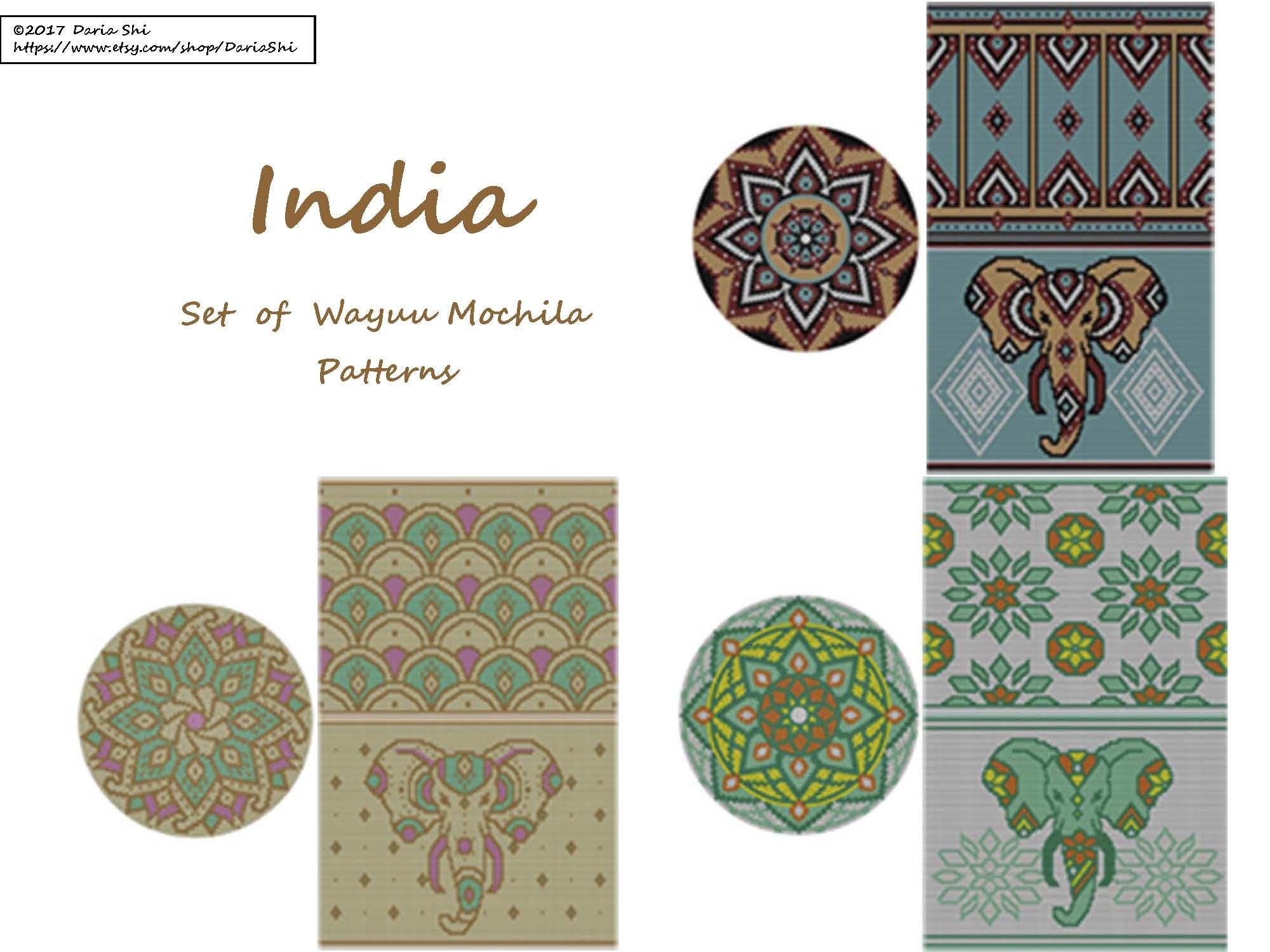 Mochila PatternIndia Wayuu Of Bag Patterns Set Pattern MzpUqVSG