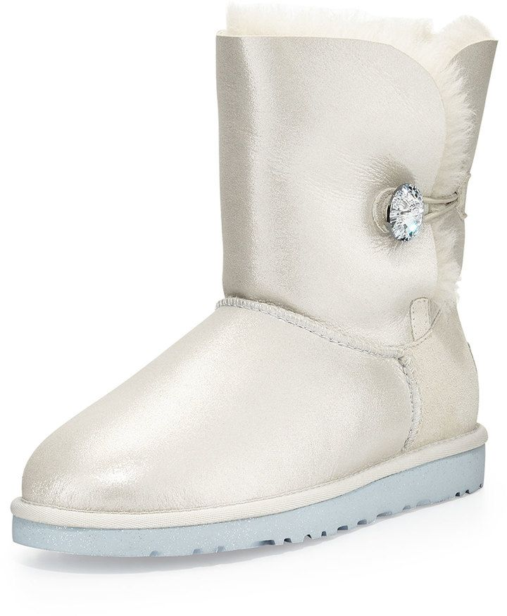 UGG Australia I Do! Bailey Short Crystal Button Bridal
