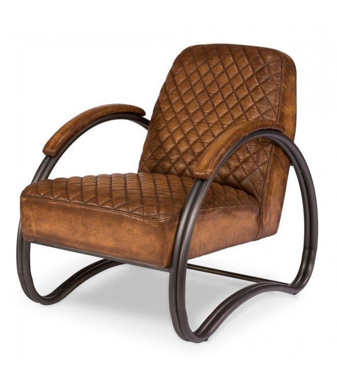 Best Distressed Brown Leather Diamond Quilted Club Chair 400 x 300