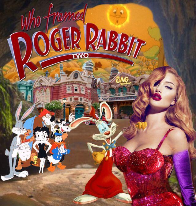 Who Framed Roger Rabbit 2 Collage Celebrity Film Collage Art Collage