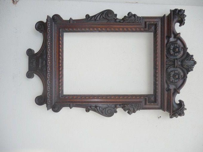 Black Forest Style Wood Carved Frame On Ebay Wood Carving