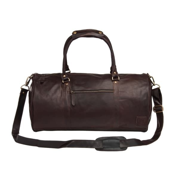 MAHI LEATHER Leather Weekend Classic Duffle Holdall - Overnight Gym Bag in  Vintage Mahogany 266eaa762ced0
