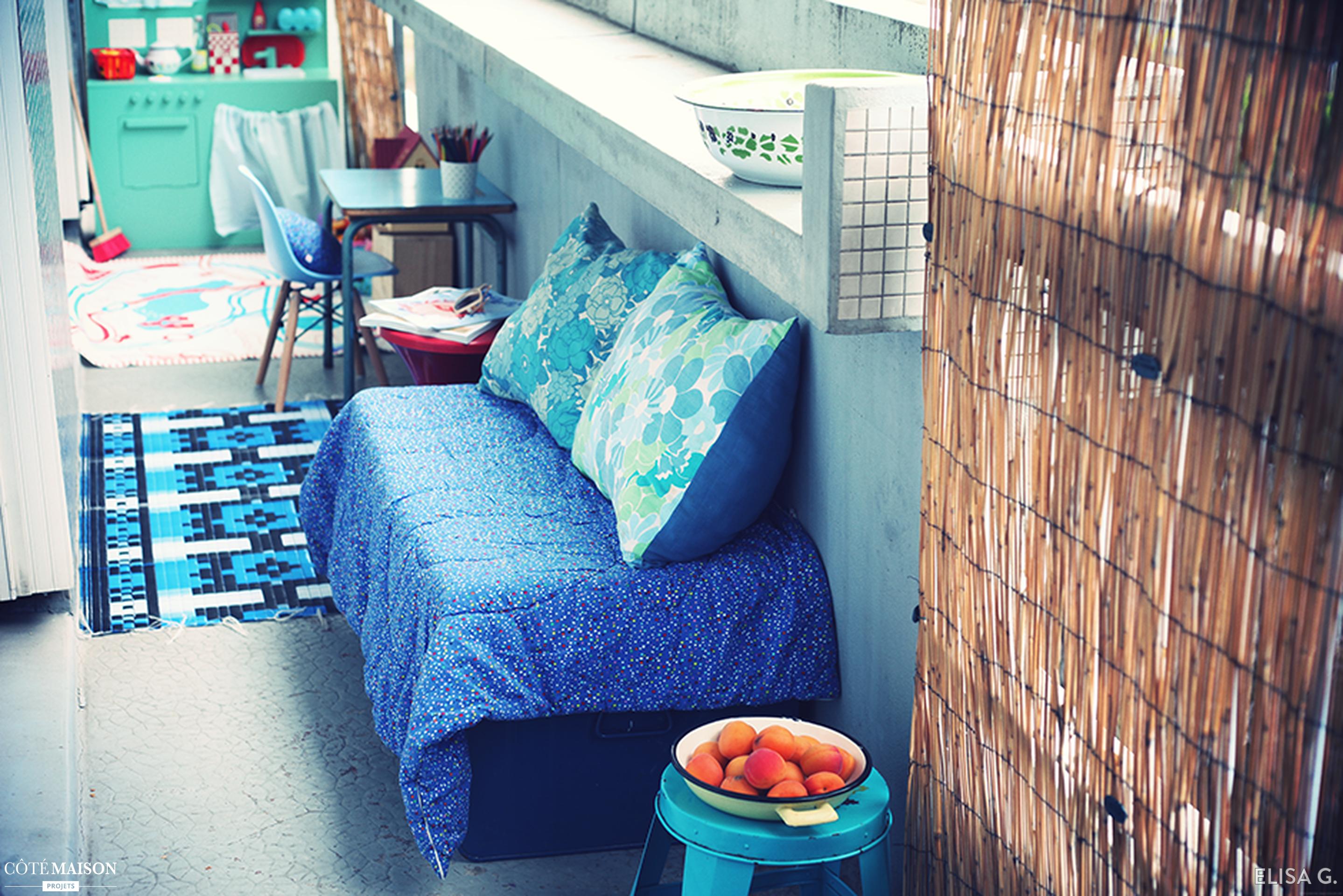 Transformation d\'un balcon sans charme et étroit, en un espace cosy ...