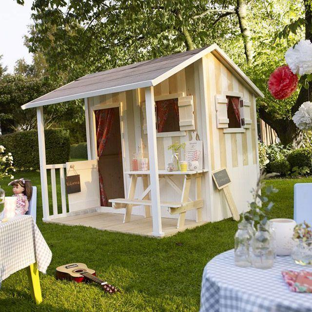 cabane de jardin pour les enfants home pinterest playhouses play houses and pallets. Black Bedroom Furniture Sets. Home Design Ideas