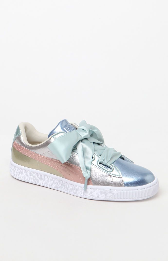 size 40 b653a b8081 Puma Basket Heart Bauble Sneakers from PacSun | Ladies ...