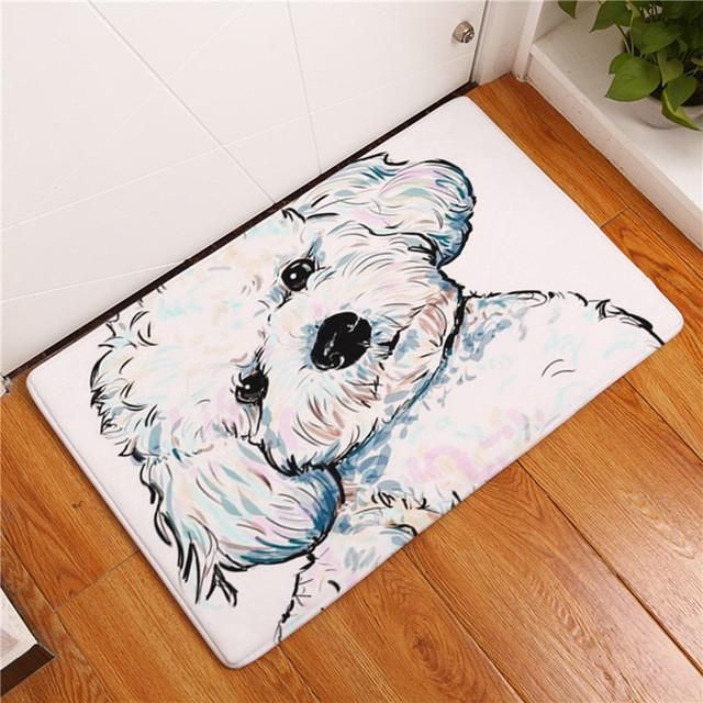 15 Options AND 2 Sizes To Choose From The Happy Dog Anti-slip Floor, Door Mat