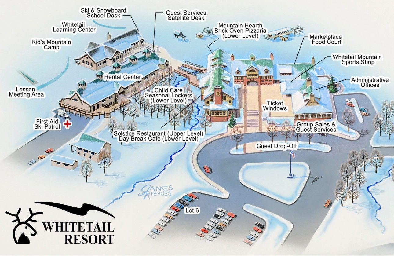 Winter Resort Map Whitetail Resort Live Winter Resort Resort