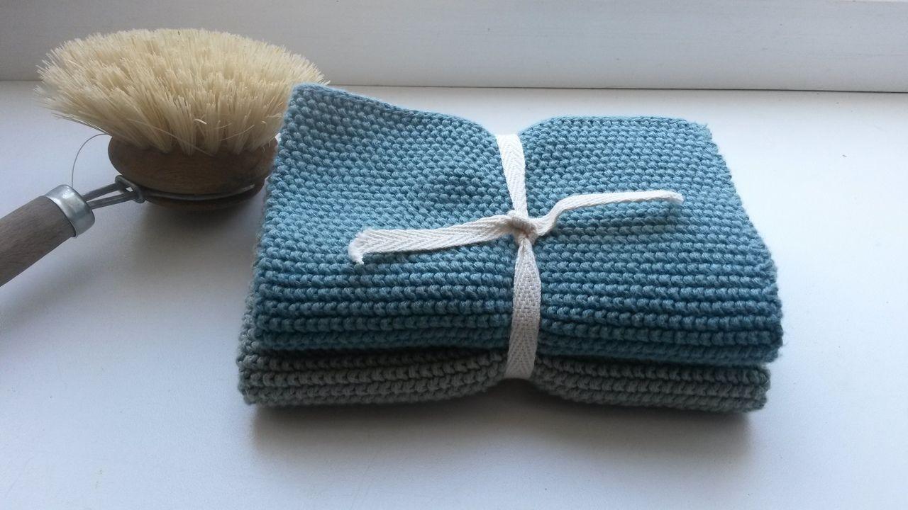 Knitting dishcloths Zero Waste in the kitchen
