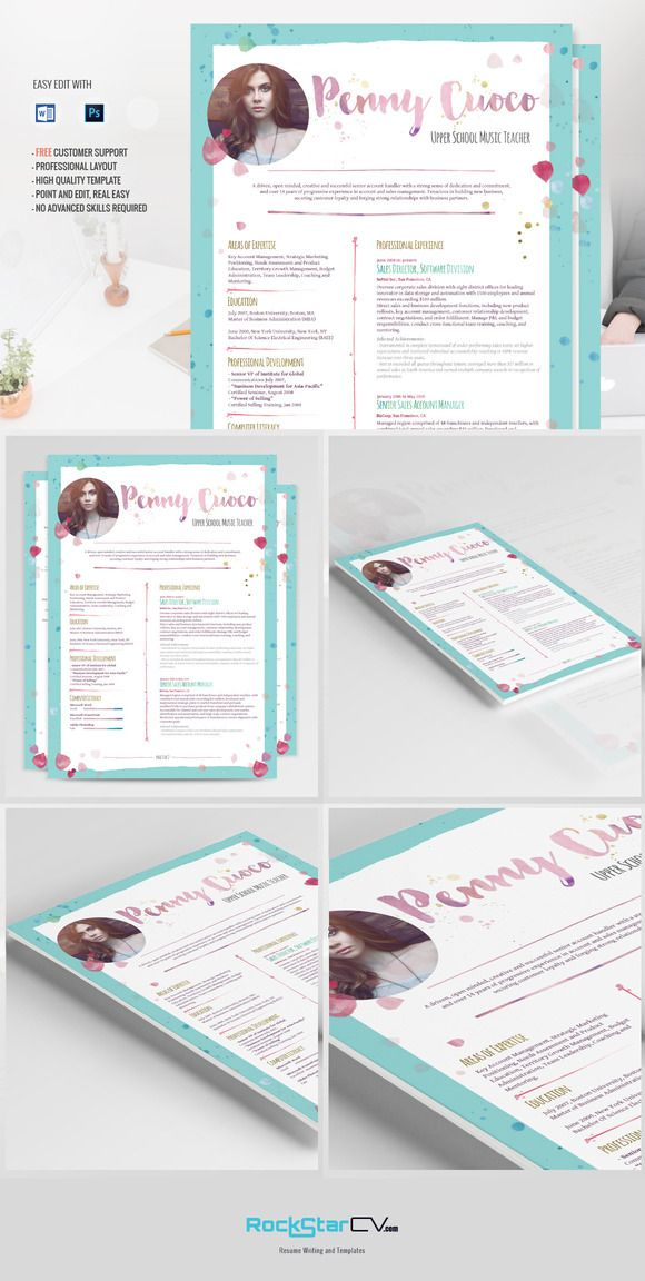 Resume template, + FREE Cover Letter by Resume Templates on