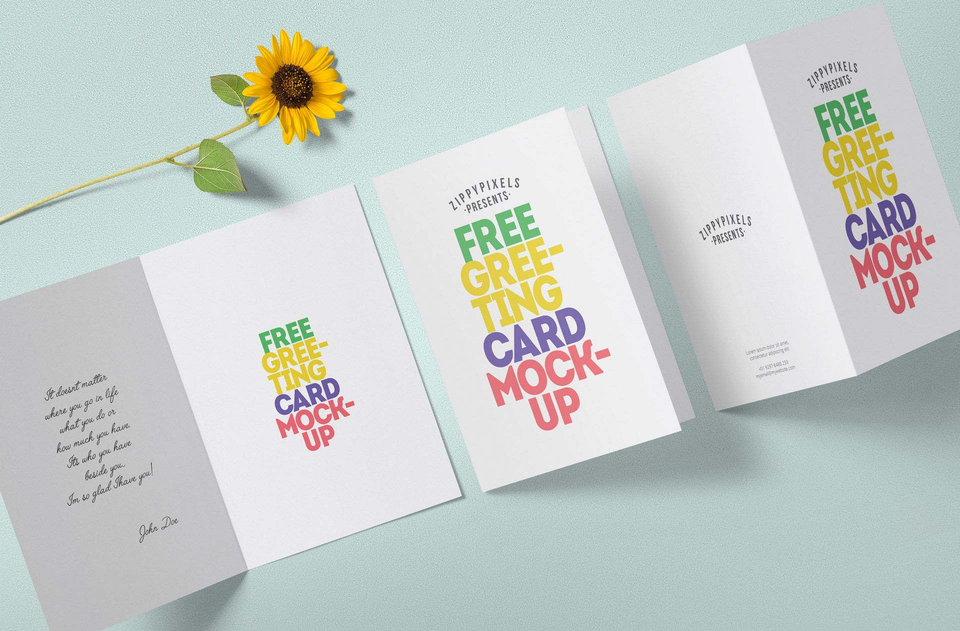 Free Greeting Card Mockup Zippypixels Free Greeting Cards Sorry Cards Card Design
