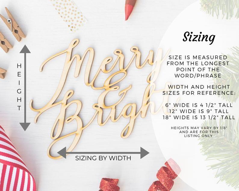 Wreath Supplies Laser Cut Christmas Words Christmas Craft Project Holiday Wall Decor Fa La La La La Wood Word