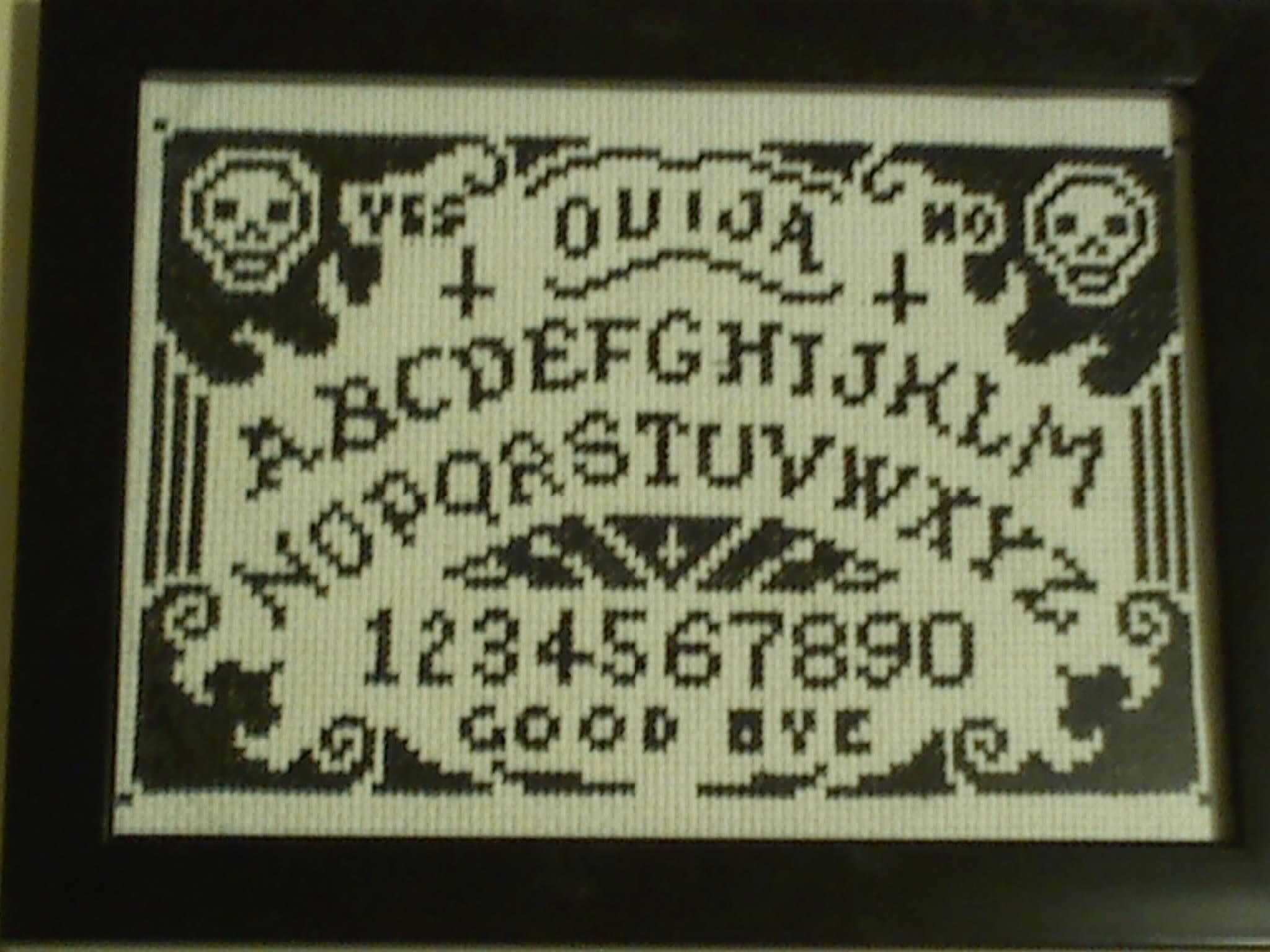 Ouija board cross stitch Various Bits of Nerdisms