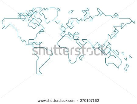 World map drawn with thin line on a invisible grid of rounded world map drawn with thin line on a invisible grid of rounded squares and triangles gumiabroncs Image collections