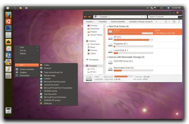 How To Make Windows 7 Look Like Ubuntu 11 10 Oneiric Ocelot