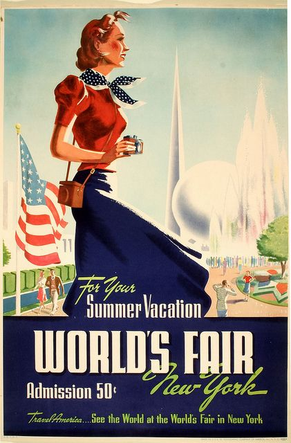 1939 travel poster ADMISSION 50 CENTS!