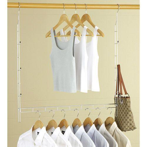 The Adjustable Closet Rod Hanger