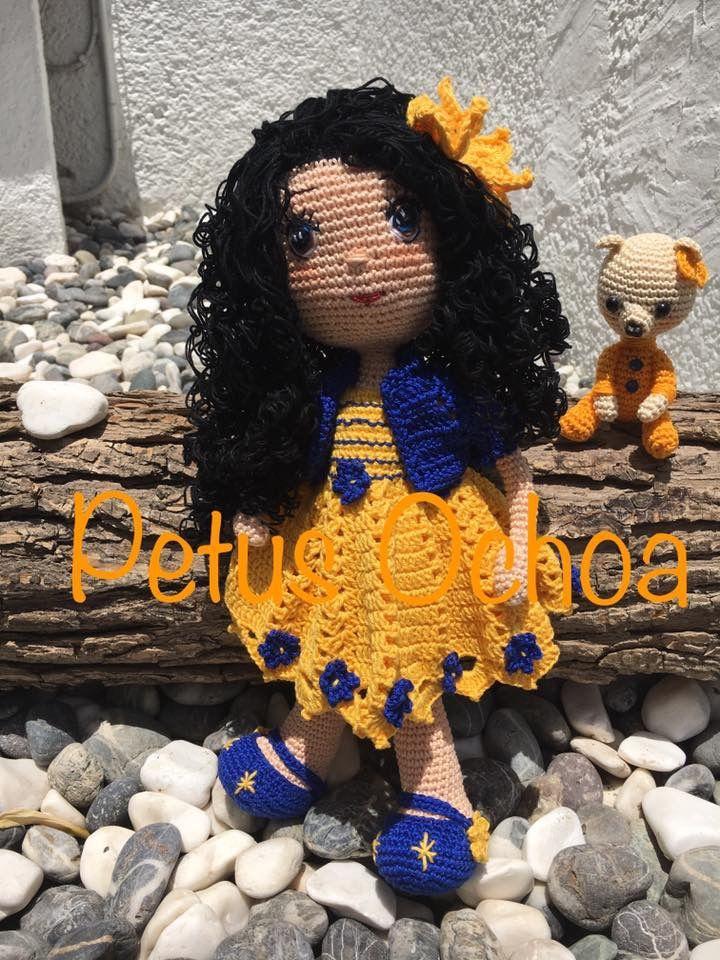 Muñeca Carolina patrón gratis por el canal de YouTube amigurimis By ...