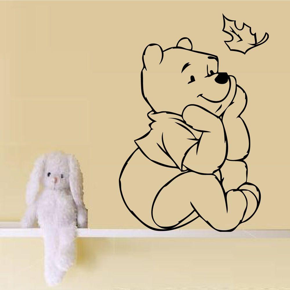 WINNIE THE POOH NURSERY WALL ART STICKER BABY GIRL BOY BEDROOM GIFT ...