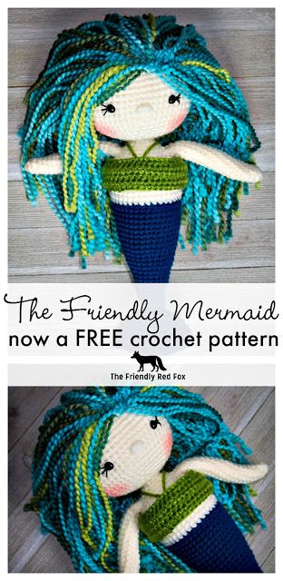 Free Mermaid Crochet Pattern #toydoll