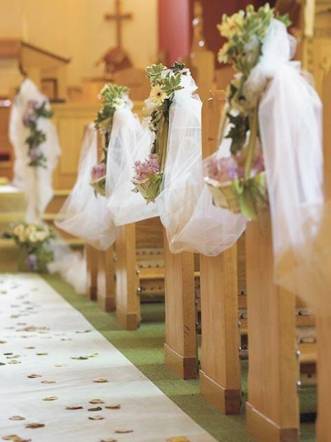 cómo decorar la iglesia el día de tu boda | me gusta | pinterest