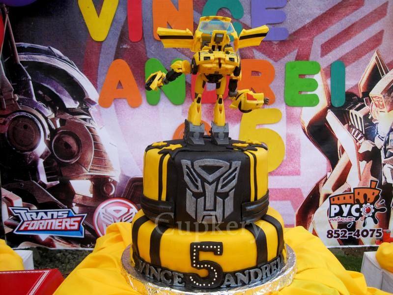 Bumblebee cake transformers birthday cake cake designs