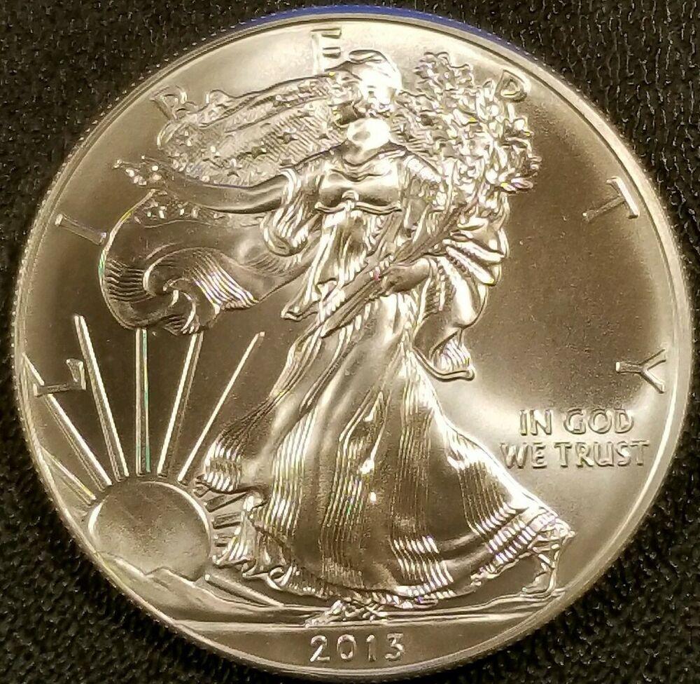 2013 American Silver Eagle 1oz 999 Fine Silver Bullion Bu Silver Eagle Coins Silver Bullion Fine Silver