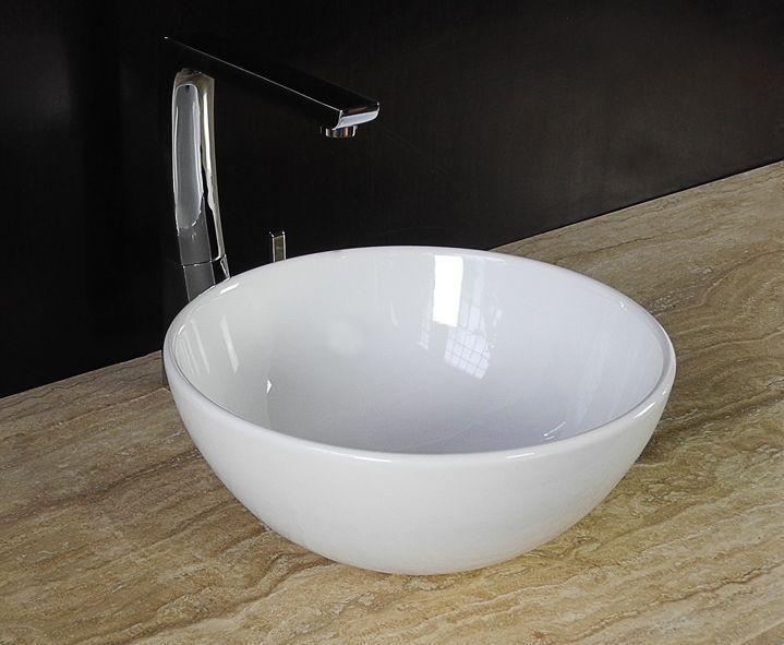 landhaus keramik aufsatz waschbecken waschschale 32cm rund g ste bad wc neu bad pinterest. Black Bedroom Furniture Sets. Home Design Ideas