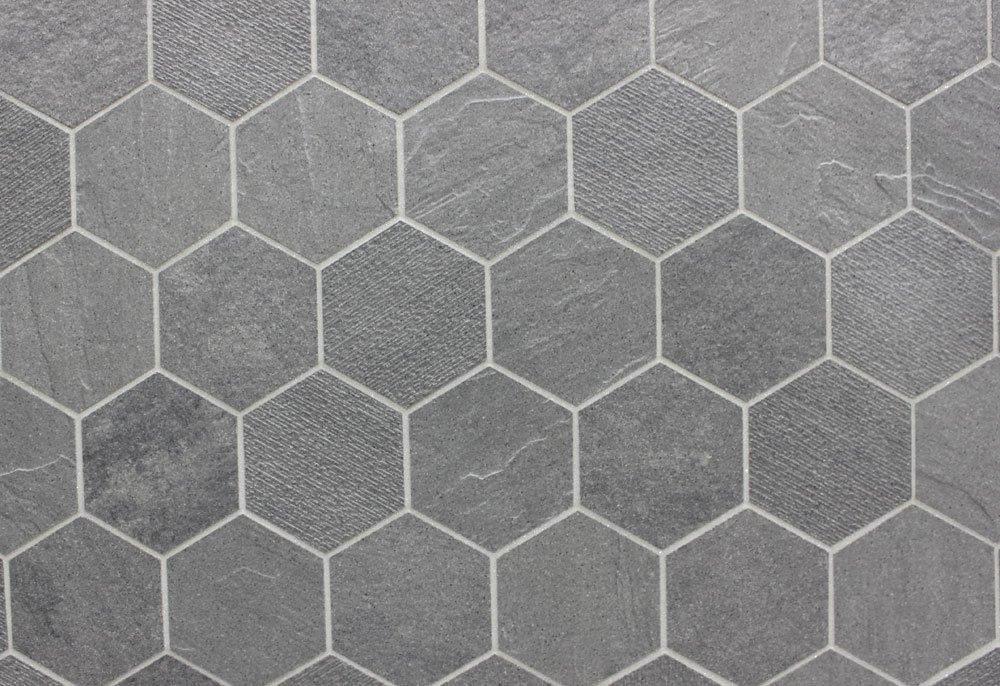 Gray Hex Tiles Grey Bathroom Tiles Hexagon Tile Floor Hexagon
