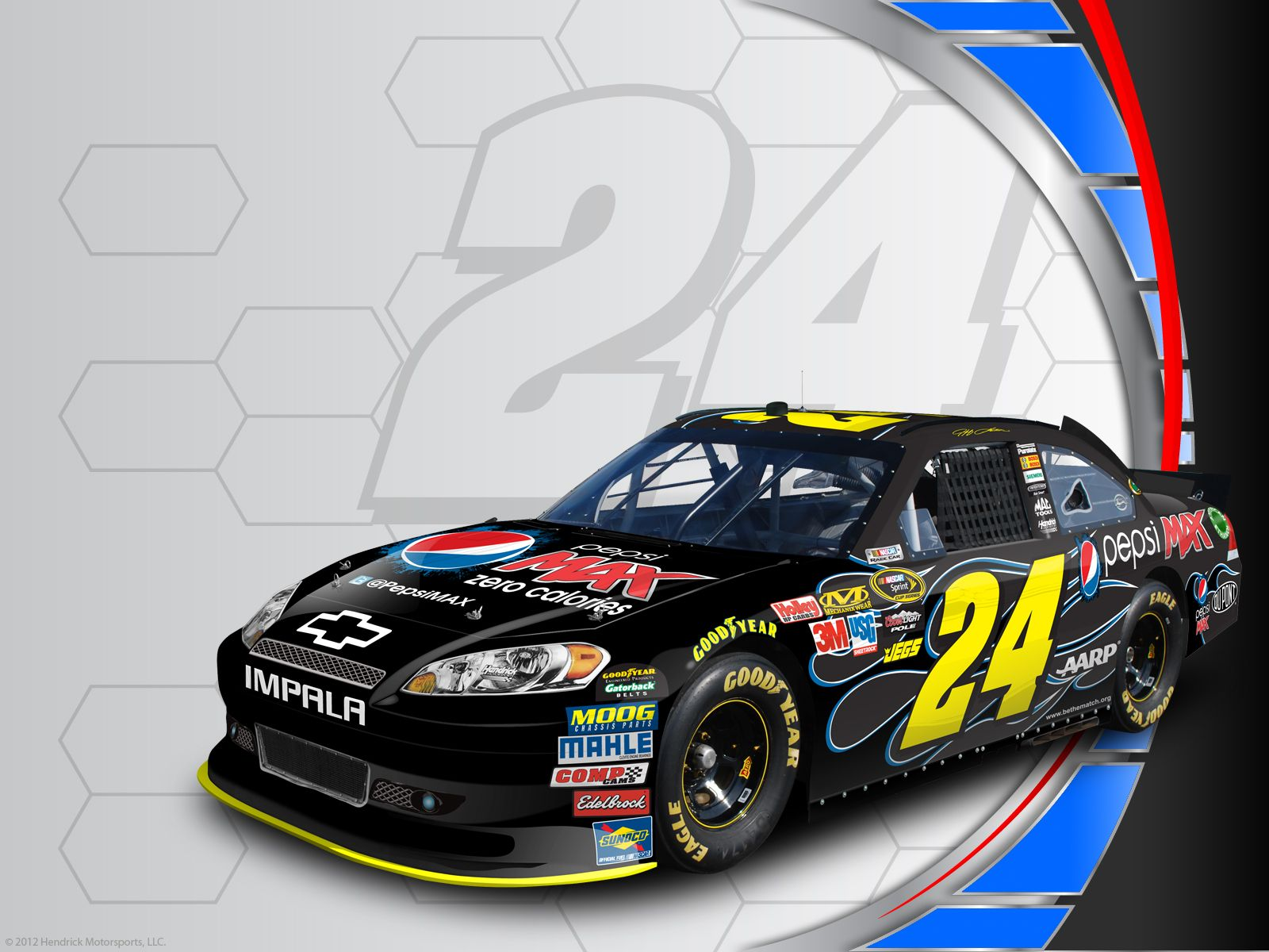 Jeff Gordon's No. 24 PepsiMAX Chevrolet desktop wallpaper