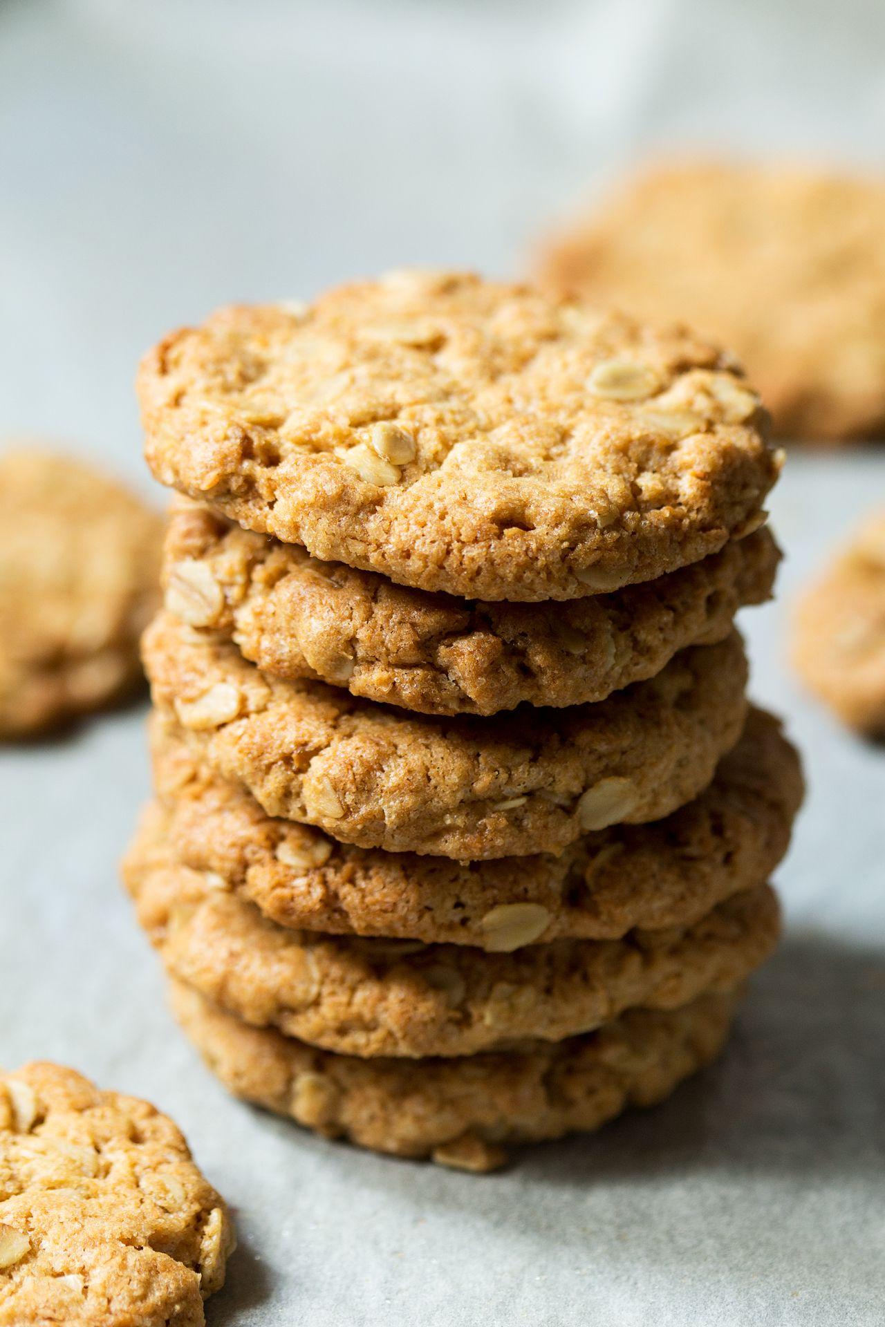 Vegan Anzac biscuits Recipe Anzac biscuits, Lazy cat