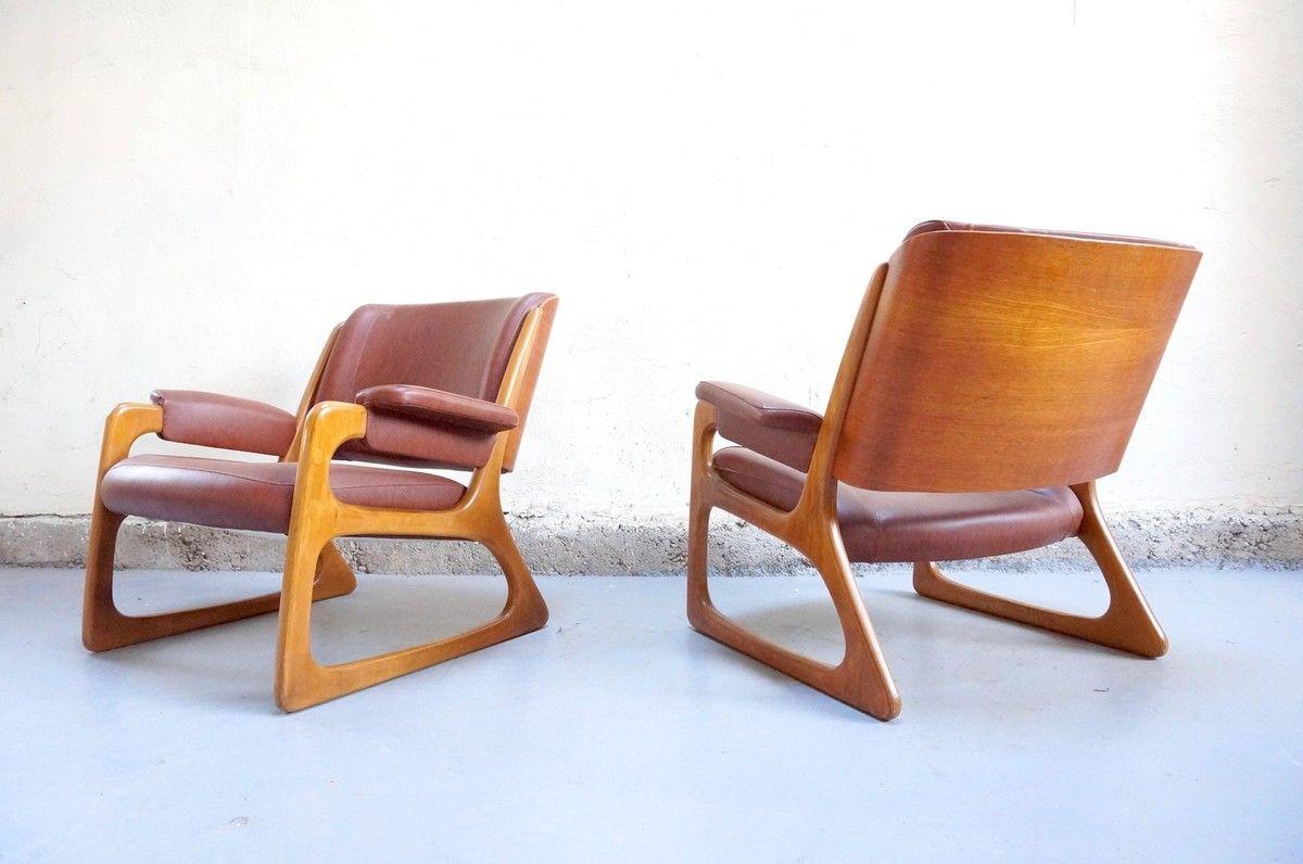 Vintage Design Fauteuil.Vendu Paire Fauteuil Baumann Vintage Design Annees 50 60 70