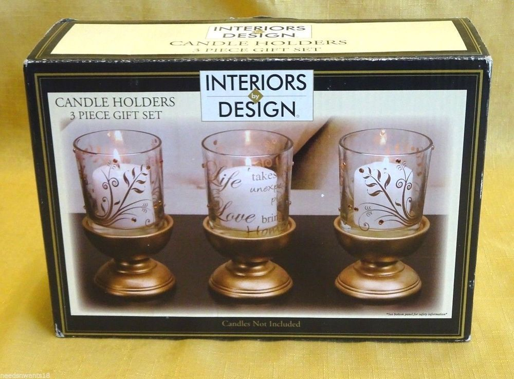 Candle Holders 3 Piece Gift Set Nib Home Decor Interiors By Design