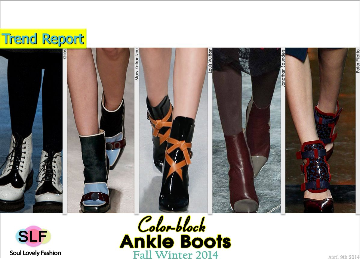 Color-block Ankle #Boots Trend for Fall Winter 2014 #Fall2014 #FW2014 #Colorblock #Trends