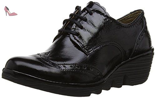 black Damani 38 Chaussures London Femme Noir Ville Palt De Fly Rq86x
